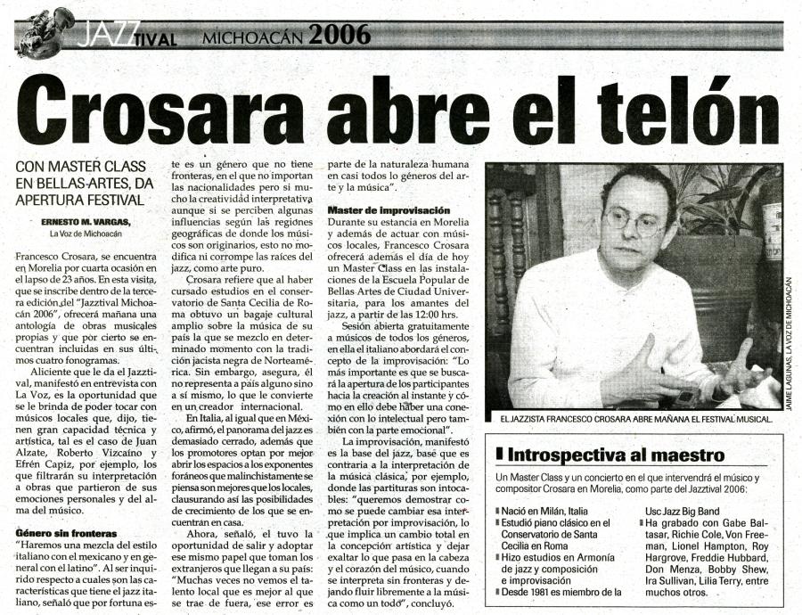2006 Mexico – La Voz (Spanish) – FRANCESCO CROSARA